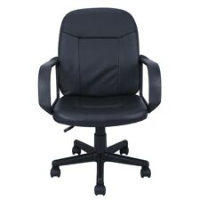 Ergonomic Leather Midback Executive Computer Best Desk Task Office Chair Black