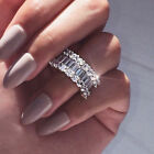 Gorgeous 925 Silver Rings For Women Cubic Zirconia Wedding Jewelry Ring Sz 6-10