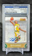 2007-08 Topps Trademark Moves Kevin Durant Rookie SP Auto #74/1999 PSA/DNA RC