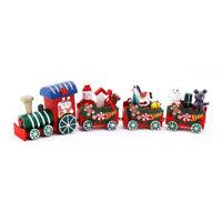 XMAS WOODEN CHRISTMAS TRAIN SANTA CLAUS FESTIVAL ORNAMENT HOME DECOR KIDS GIFTS