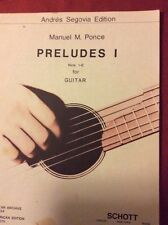 Preludes I by Manuel Ponce sheet music for guitar