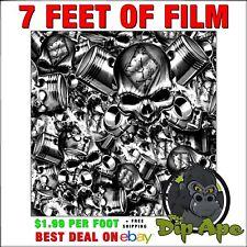 Hydrographic Film Skulls Brotherhood Motor Head 7 X 20 Hydro Dipping Dip Ape