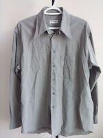 Giorgio Armani Le Collezioni Mens Long sleeves Dress Shirt Grey - Size 16 / 41