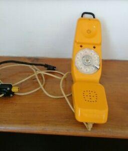 Vintage BRITISH TELECOM Yellow BT Engineers Test Telephone rotary dial