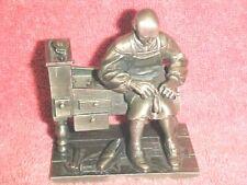 1975 Franklin Mint 'Pewter Figurine - The Shoemaker - Signed