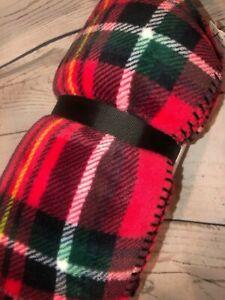 "Pink Black Friday Plaid Fleece Cozy Blanket VICTORIA'S SECRET 50"" X 60"" BrandNew"