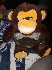 Teddy stuffed MONKEY Fish Tank or to Hold Snack or Coins or Building Blocks