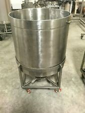 New listing 57 Gal. Food Grade Stainless Steel Sample Tank On Casters