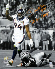 DEMARCUS WARE AUTOGRAPHED SIGNED 16X20 PHOTO BRONCOS SB CHAMP BECKETT 131265