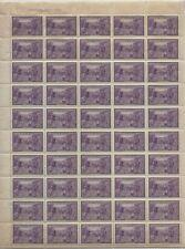 CANADA - #283 - 4c HALIFAX BICENTENARY UL PLATE #2 FULL SHEET MNH