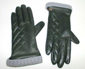 UGG Australia Women Leather Wool Lining Gloves Green M