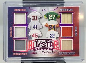 2020 In The Game Used Sports Maddux Seaver Hunter Ryan All Star Bat Jersey 4/4!