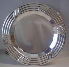Vassoio piatto da servizio centrotavola sottopiatto 22,5 cm col. argento