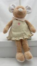 Noukie's peluche souris beige avec robe et écharpe 33 cm environ