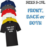Personalised Custom Printed T shirt Photo Your Image Text Here Mens Women