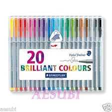 STAEDTLER Triplus Fineliner Set 20pcs assorted colors 334 SB20 Brilliant colours