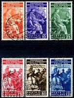 Vaticano 1935 Congresso Giuridico S10 n. 41/46 usati (m1746)