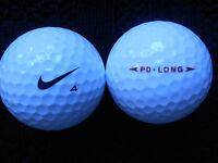 """20  NIKE  """"PD LONG"""" - BLACK SWOOSH - Golf Balls - """"PEARL/A"""" Grades."""