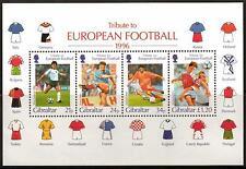 GIBRALTAR SGMS775 1996 EUROPEAN CUP FOOTBALL CHAMPIONSHIPS MNH