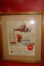COCA COLA 1955 Framed original magazine ad advertising APPRECIATE coke soda pop