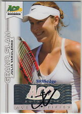 2013 ACE GRAND SLAM TENNIS AUTO: JULIA VAKULENKO - AUTOGRAPH WTA TOP 40 PLAYER