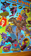 "10 Large Sheets of Batman & Robin  Laser Stickers 8"" X 10"" NEW"
