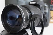 2x Tele Zoom Macro Lens For Nikon d5200 d3300 d5100 d3100 d3200 d60 d40x w18-55