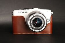 Handmade Genuine real Leather Half Camera Case bag for Olympus Epl5 E-Pl5 A
