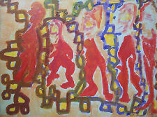 Contemporary Abstract Painting on Canvas - Unsigned - Canada - Late 20th Century
