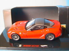 FERRARI 599 GTO 2010 RED & GREY HOTWHEELS ELITE T6267 1/43 ROUGE ET GRISE ROSSO
