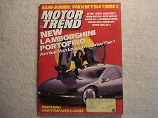 Motor Trend 1988 May Porsche 944 Lamborghini Cavalier Z24 TVR 280i BMW 535i Alfa