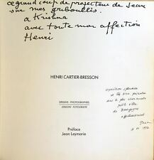 Henri CARTIER-BRESSON (Artist): Catalog of Photos, Signed and Inscribed!