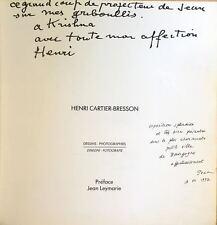 Henri CARTIER-BRESSON (Artist): Catalog of Photos, Signed and Inscribed!