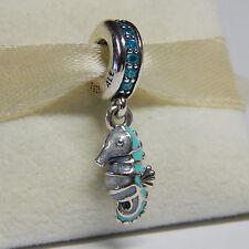 New Pandora Charm Tropical Seahorse Teal Enamel 791311MCZ Dangle Box Include