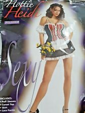 Ladies Fancy Dress Sexy Heidi Costume Party Outfit Hen Night Size 10-14