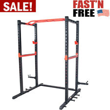 Power Cage Zone Strength Rack With Safety Lock For Home Fitness Workout Gym NEW