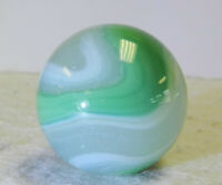 #12534m Vintage Akro Agate Onyx Corkscrew Shooter Marble .98 Inches *Near Mint*