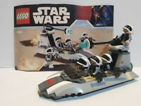 Lego Star Wars Rebel Scout Speeder Set 7668 Complete/Instructions/MiniFigures