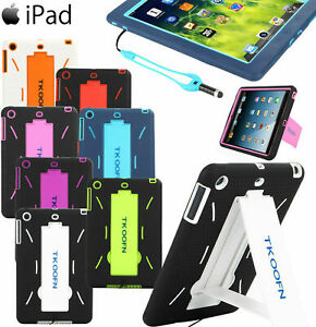 US Kids Shockproof Heavy Duty Hard Stand Case Cover For Apple iPad Mini 1 2 3