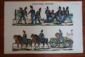 Artillerie Montée - Image d'Epinal