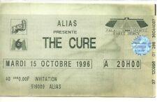 RARE / TICKET BILLET DE CONCERT - THE CURE : LIVE A PARIS ( FRANCE ) 1996