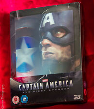 Captain America The First Avenger Zavvi Lenticular STEELBOOK + Bonus Art Cards
