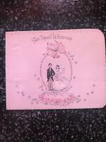 Vintage Wedding Card MCM Wallet Money Bride groom American Greetings
