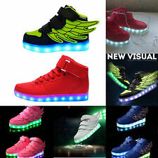 scarpe bambini luci led usb ricarica 25-37 basket children shoes light