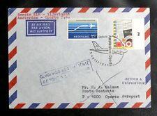 THEMATIQUE AVIATION : PAYS BAS KLM 1er VOL AMSTERDAM / OPORTO 7. 4. 1985  - TBE
