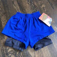 Vtg Gym Shorts FUSION Aerobic Compression Squat Blue NEW NOS 80s 90s Mens MEDIUM