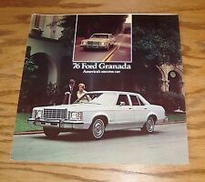 Original 1976 Ford Granada Foldout Sales Brochure 76