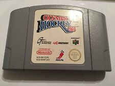 UK/EURO PAL NINTENDO 64 N64 GAME CARTRIDGE OLYMPIC (ICE) HOCKEY 98 / 1998 NAGANO