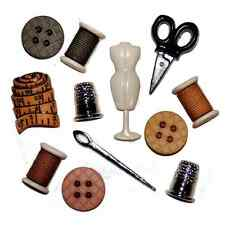 12 Sewing Room Notions Dress It Up Novelty Craft Buttons Embellishments