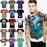 Rasta Design Artwork 3d Printed Womens Men Junior Hiphop Tee T Shirt Casual Crew